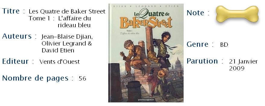 Les Quatre de Baker Street T1